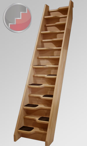 Birch 24 spacesaver staircase