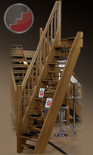 Oak 40 openplan spacesaver staircase
