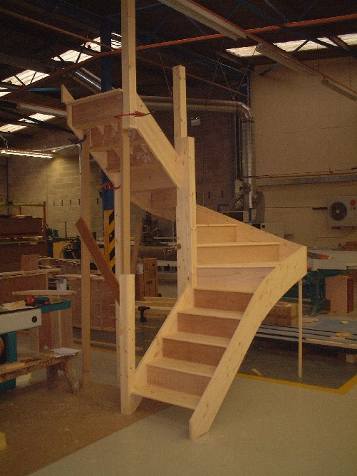 Winder staircases from the wooden staircase specialists for Pre built stairs interior