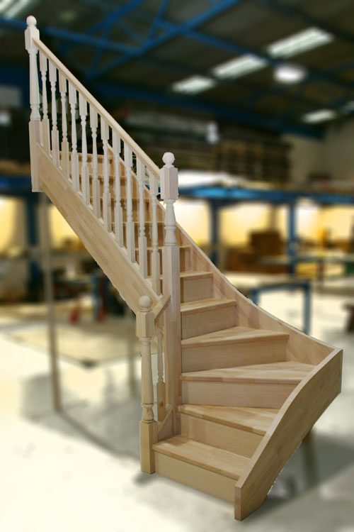 Beech winder staircase