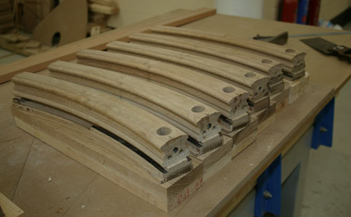 Wreath handrail sections